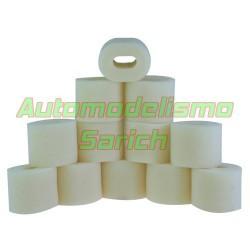 Espumas filtro de aire sin aceitar para Kyosho UR (12u)