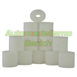 Espumas filtro de aire aceitadas + Soporte UR (6u)