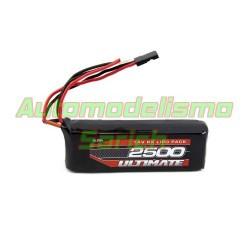 Batería Ultimate LiPo receptor plana 7.4V 2S 2.500mha