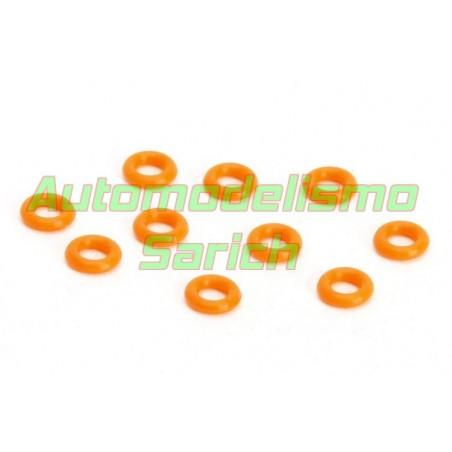 Juntas naranjas de amortiguador A8