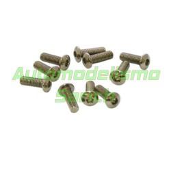 Tornillos de botón 4x12mm (10u)