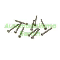 Tornillos cilíndricos 2x25mm (10u)