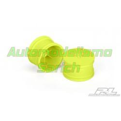 Llanta velocity 1/10TT del. Amarillas 2WD (2u)