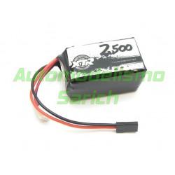 Batería cuadrada LiPo 2500mha 7.4V XTR Racing