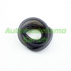 Macarrón de gasolina negro translucido UR (1m)