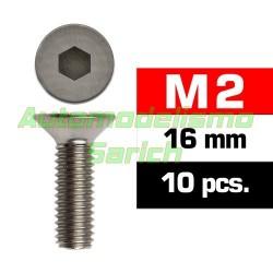 Tornillos avellanados 2x16mm (10u)
