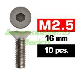 Tornillos avellanados 2'5x16mm (10u)