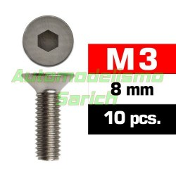 Tornillos avellanados 3x8mm (10u)