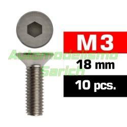 Tornillos avellanados 3x18mm (10u)