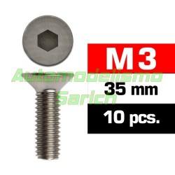 Tornillos avellanados 3x35mm (10u)