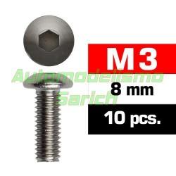 Tornillos de botón 3x8mm (10u)