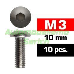 Tornillos de botón 3x10mm (10u)