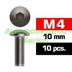 Tornillos de botón 4x10mm (10u)