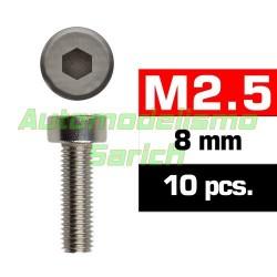 Tornillos cilíndricos 2'5x8mm (10u)