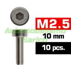 Tornillos cilíndricos 2'5x10mm (10u)