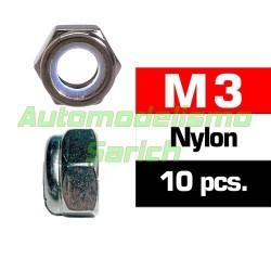 Tuercas autoblocantes M3 (10u)