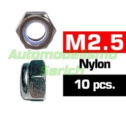 Tuercas autoblocantes M2'5 (10u)