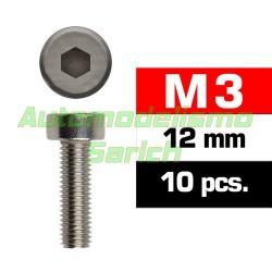 Tornillos cilíndricos 3x12mm (10u)