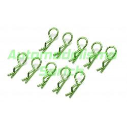 Clips de carrocería verdes (10unid.) Absima