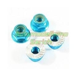 Tuercas estriadas M4 azules Fastrax