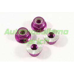 Tuercas estriadas M4 purpuras Fastrax