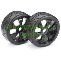 Ruedas GT asfalto negras 1/8 (2unid.) Absima