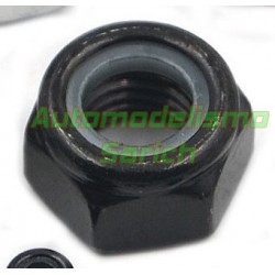 Tuercas autoblocantes M4 negras (10unid) Automodelismo Sarich