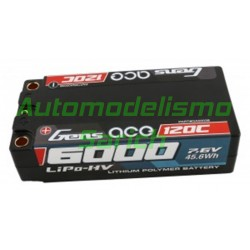 Batería Shorty LiPo 2S HV 6.000mah 120C Gens ACE