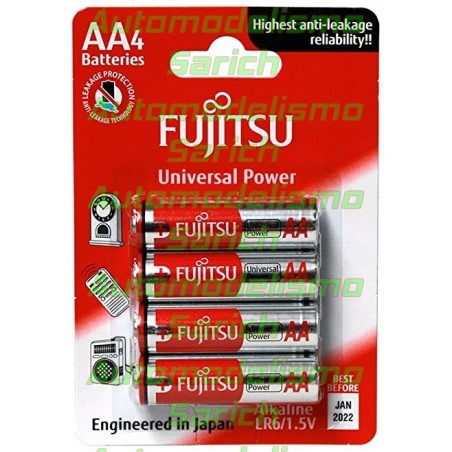 Blister 4 pilas alcalinas Fujitsu AA