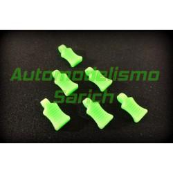 Tiradores de clips verde...