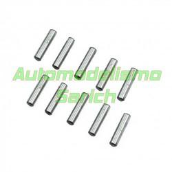 Pins acero cromado 3x12.8mm UR